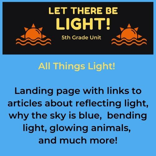 Let There be light! All things light! Landing page with links to articles about reflecting light, wh